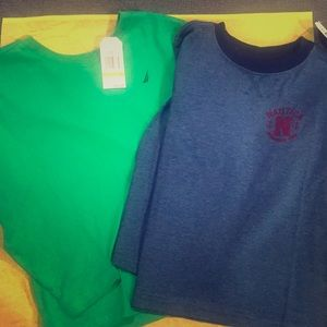 Brand new with tags two boys Nautica  shirts 5